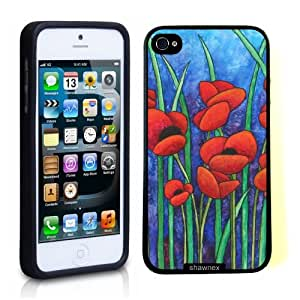 Iphone 5 5S Case Thinshell Case Protective Iphone 5 5S Case Shawnex Red Poppies