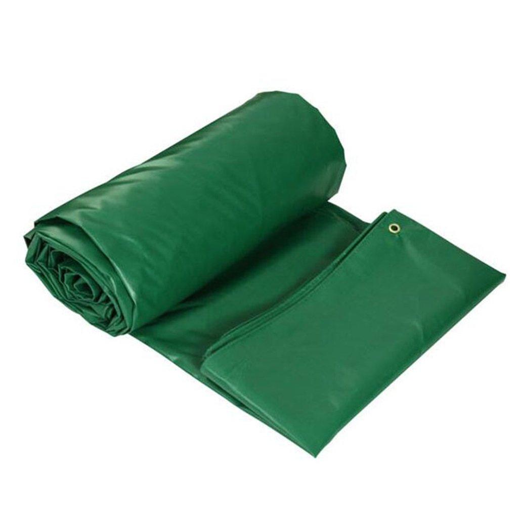 3mx4m LQq-BÂches BÂche de couverture Feuille résistante imperméable de bÂche de bÂche pour la camping campant l'épaisseur verte de jardinage 0.4mm 450g   m2 pour le camping en plein air (taille   2mx3m)