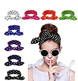 Lanzom 8 Pieces Women Fashion Elastic Hair Band Turban Head Band Hair Accessories (Style G)