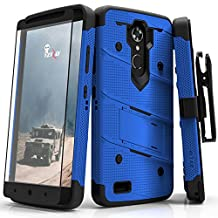 ZTE Max XL Case, Zizo [Bolt Series] w/ FREE [ZTE Max XL Screen Protector ] Kickstand [12 ft. Military Grade Drop Tested] Holster Clip - Blade X Max