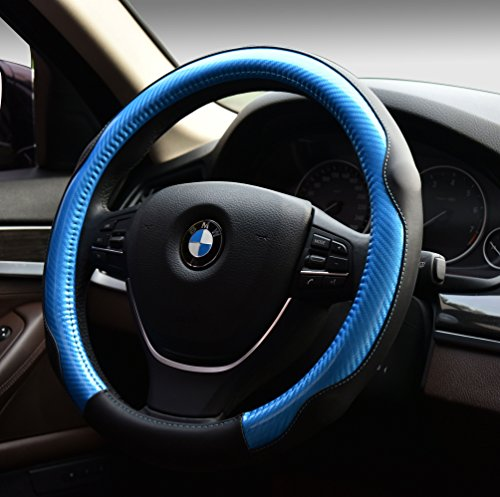 Subaru Steering Wheel Cover (Sports Colorful Car Steering Wheel Cover Automotive Interior Protection - PU Leather Anti Slip Wrap Universal Fit for 15 inch)