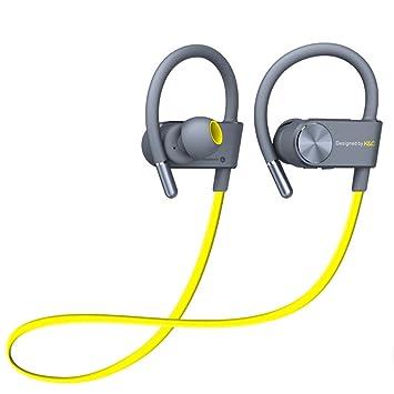 MLL Auriculares Bluetooth Deportes a Prueba de Agua Mini Auricular inalámbrico Bluetooth Auriculares Música Estéreo,