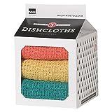Now Designs Milk Carton Dishcloth, Ember glow, Set of 3