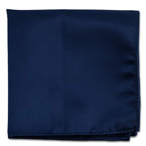 Navy Blue Pocket Squares For Men - Mens Woven Pocket Square Tuxedo Wedding Solid Color Formal Handkerchiefs