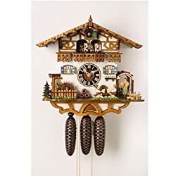 German Black Forest Cuckoo Clock with Beer Drinkers and Waitress | Musical
