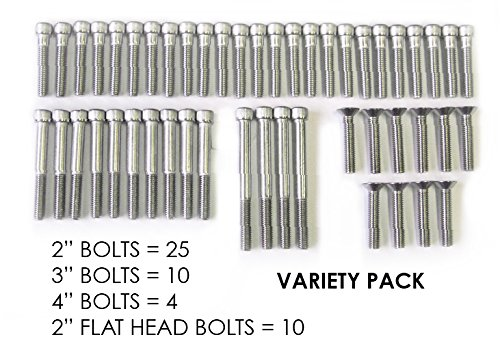 Escape Climbing 49 Stainless Steel Bolt Variety Pack | Durable Hardware for Rock Climbing Holds | Features a 3/8-16 Socket Cap Screw | Includes 2