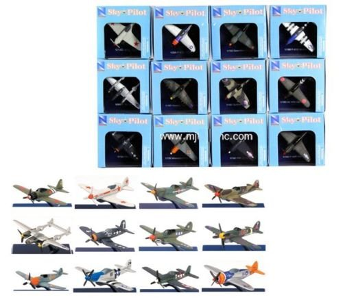 NEW RAY WORLD WAR II COLLECTION - NEWRAY PLANE WORLD WAR II FIGHTER Model Airplanes By NEW RAY TOYS Set of 12 - New Ray Models Airplane