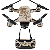 Skin for DJI Spark Mini Drone Combo - Desert Camo| MightySkins Protective, Durable, and Unique Vinyl Decal wrap cover | Easy To Apply, Remove, and Change Styles | Made in the USA