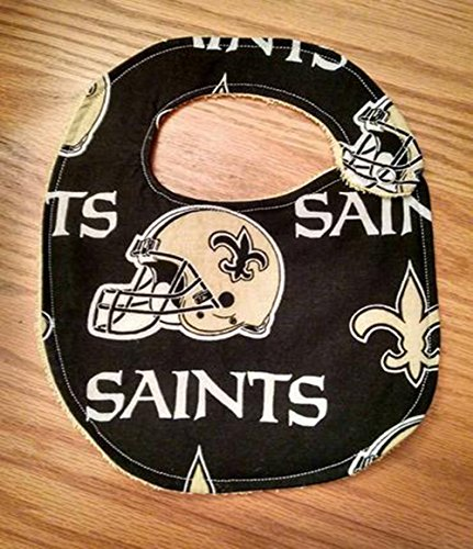 New Orleans Saints Inspired Football - Bib or Burp Cloth