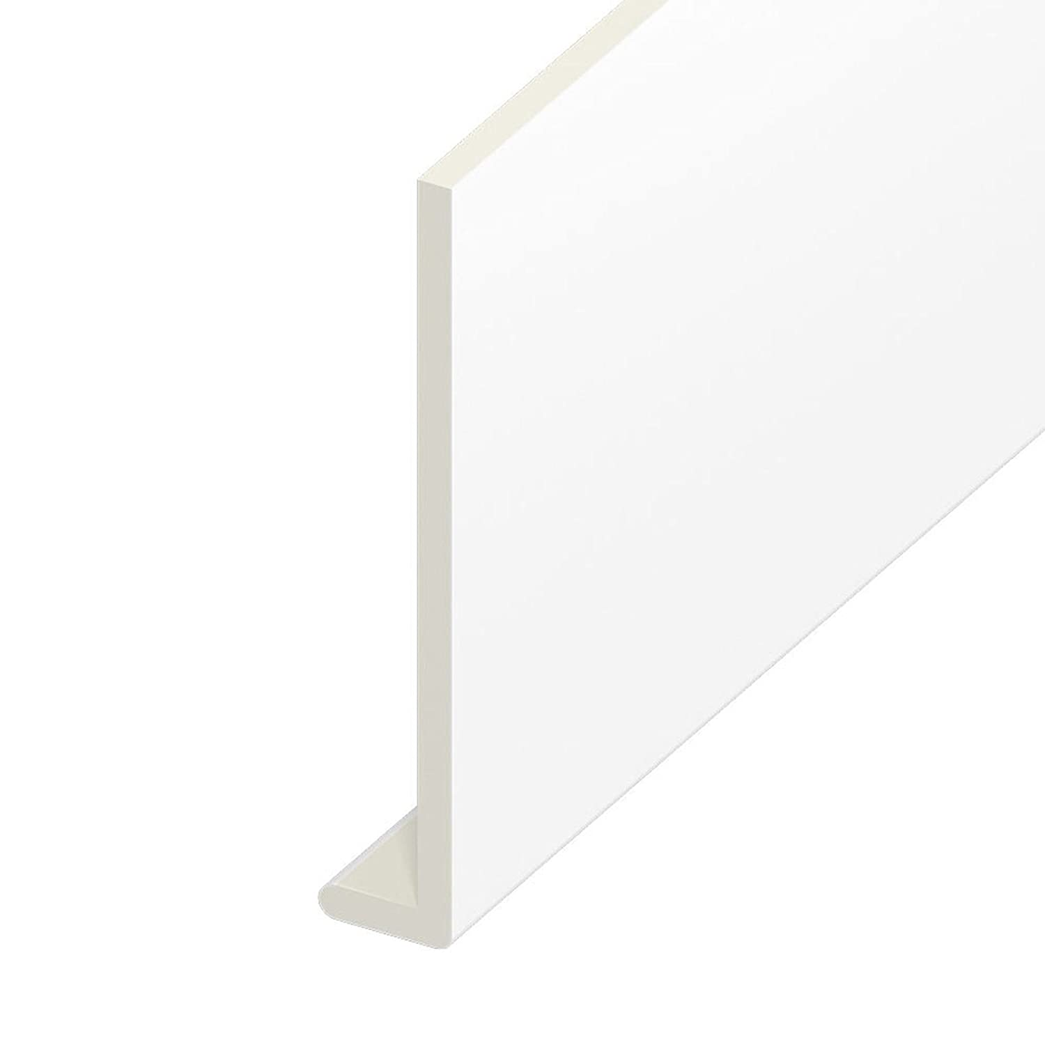 White, 225mm UPVC Fascia Capping Board 9mm Thick x 5m Length Plastic Window  Cill Cover