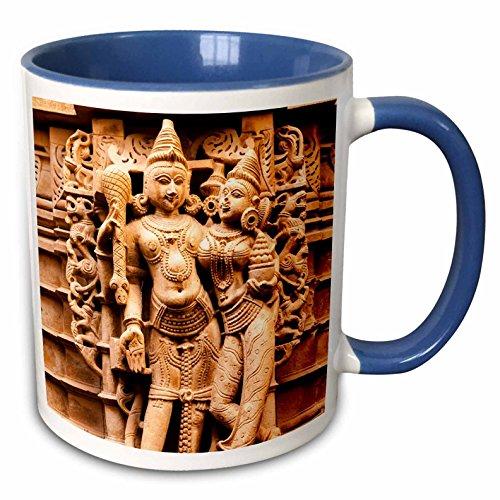 3dRose Danita Delimont - Statues - Bas Relief. Jain Temple. Jaisalmer Fort. Rajasthan. - 15oz Two-Tone Blue Mug (mug_225652_11)