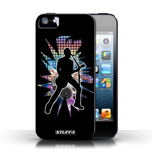 Etui / Coque pour Apple iPhone 5/5S / Chanteur Noir conception / Collection de Rock Star Pose