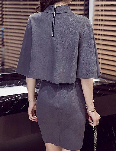 Continuer Les de Automne Jours Tous Stand Jupe HBA Shirt Suits T Grey Occasionnel Hiver du Les Femmes Se Manchon Boho Rendre L'inlasticit tdBvvnpqw