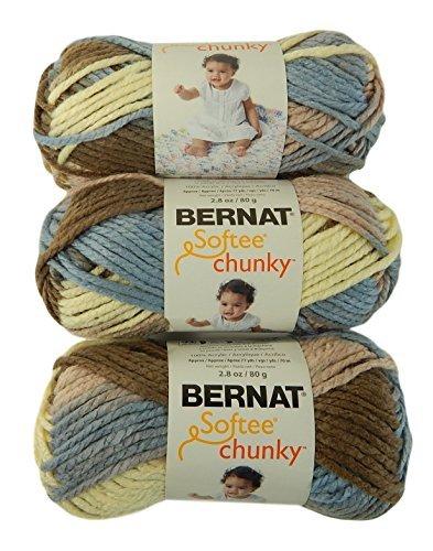 Bernat Softee Chunky Yarn Super Bulky #6 Natures Way 3 Skeins