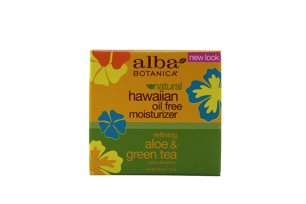 Alba Botanica Hawaiian Oil-Free Moisturizer, Refining Aloe & Green Tea 3 oz ( Pack of 4)