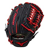 "Mizuno Franchise GFN1175B1NY 11.75"" Infield/Pitcher Baseball Glove - Navy & Red (Right-Handed Throw)"