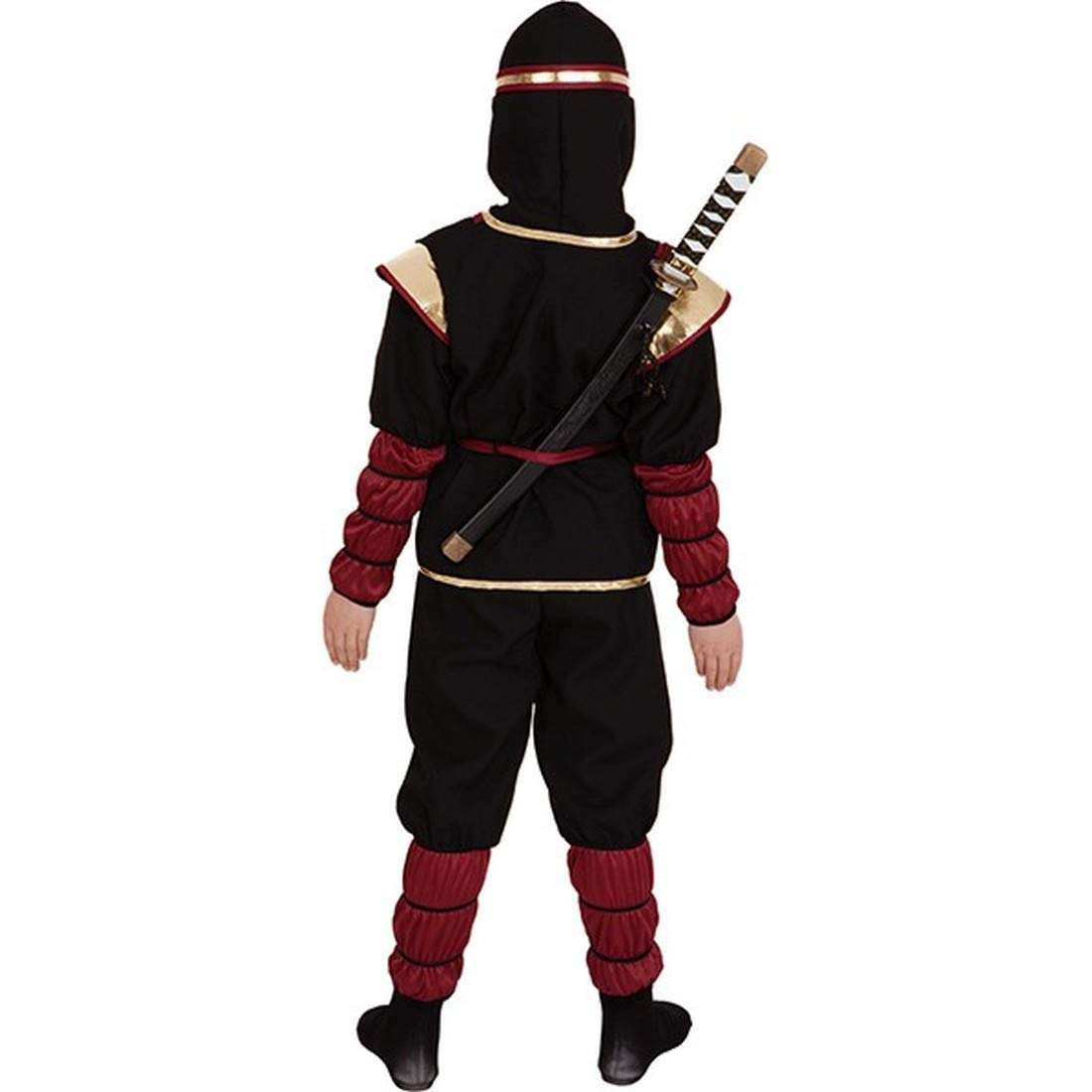 NET TOYS Luchador Ninja Disfraz para niños   Negro-Rojo ...