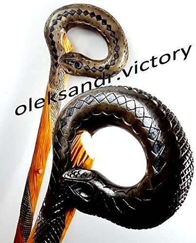 Cane Walking Stick Wooden Handmade Men's Accessories (SNAKE)
