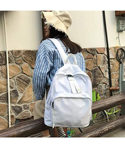 moda unisex zaini C scuola donna nylon posteriore nero cucitura impermeabile Vhvcx maglia adolescenti tracolla per zaino x0PqI1wZ7