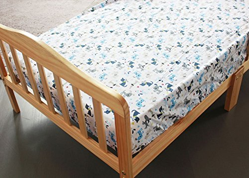NAUGHTYBOSS Boy Baby Bedding Set Cotton 3D Embroidery Submarine Car Dog Rockets Quilt Bumper Mattress Cover 7 Pieces Set Blue Patchwork by NAUGHTYBOSS (Image #7)