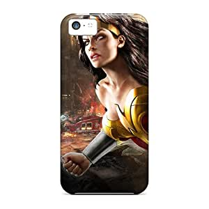 Shock Absorbent Hard Cell-phone Cases For Iphone 5c With Custom Colorful Wonder Woman Dc Universe Online Skin ErleneRobinson