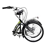 Stowabike 20'' Folding City V2 Compact Foldable Bike – 6 Speed Shimano Gears Black (Certified Refurbished)