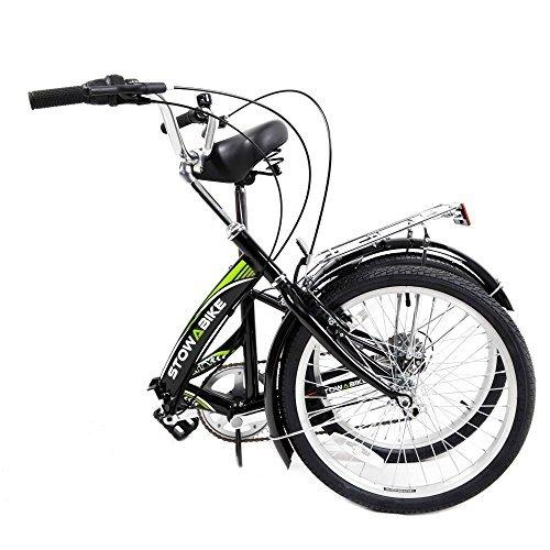 Stowabike 20'' Folding City V2 Compact Foldable Bike – 6 Speed Shimano Gears Black (Certified Refurbished)