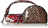 Vera Bradley Clear Cosmetic Duo Bag, Rosewood, One Size