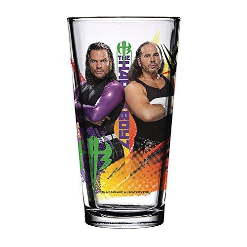 Glass Hardy (WWE The Hardy Boyz 2018 Toon Tumbler Pint Glass Clear)