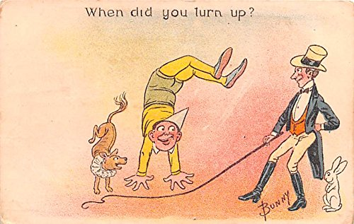 When did you turn up Artist Bunny Circus Acts Postcard