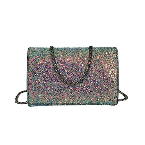 de la mode à de HENPI avec de simple la Flap mode paillettes mode de Sacs bandoulière femmes Paneled Sac sangle d'épaule cuir de Crossbody rabat Multicolore Hasp Bling des en des 1OqwO5P7x