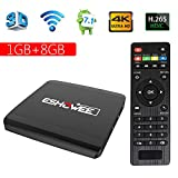 ESHOWEE Android 7.1 R1 TV Box Amlogic S905W Quad-core 1 GB Ram 8 GB ROM Quad Core 4K UHD WiFi & LAN VP9 DLNA H.265