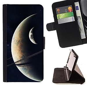 Jordan Colourful Shop - Space Planet Galaxy Stars 19 For Apple Iphone 5 / 5S - < Leather Case Absorci????n cubierta de la caja de alto impacto > -