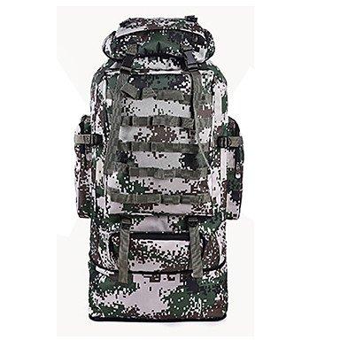 ZHUDJ 90L Ampio Camouflage Zaini Travel Duffel Zaino Organizer Per Uomini Wonen Escursioni & Camping Zaino Jungle Camouflage Borse Sportive,Verde