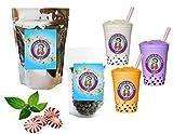 10+ Drinks Peppermint Boba Tea Kit: Tea Powder, Tapioca Pearls & Straws By Buddha Bubbles Boba