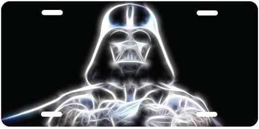 Star Wars Darth Vader Glowing Aluminum License Plate Tag Auto