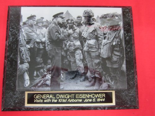 General Dwight Eisenhower D Day Collector Plaque w/8x10 RARE Photo w/101st AIRBORNE!!
