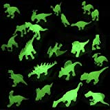 Liberty Imports Dino World Glow in The Dark Miniature Plastic Dinosaur Figures - Mini Toy Jurassic Figurines Assorted (Set of 24)
