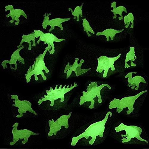 Liberty Imports Dino World Glow in The Dark Miniature Plastic Dinosaur Figures | Mini Toy Jurassic Figurines Assorted (Set of -