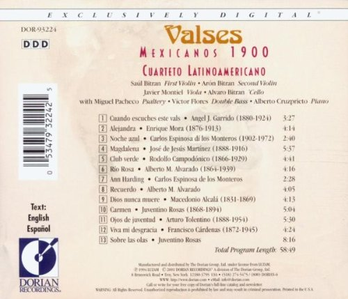 Valses Mexicanos 1900 / Various