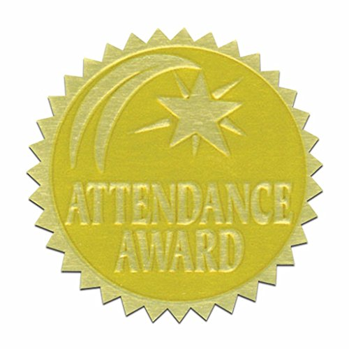 Attendance Stickers - Self-Adhesive 1 3/4
