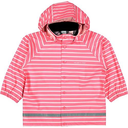 Polarn O. Pyret Classic Stripe RAIN Jacket (6-8YRS) - Pink Lemonade/6-8 (Stripes Lemonade)