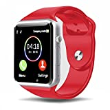 Padgene Bluetooth Smart Watch GSM Phone Watch with Camera for Samsung Nexus HTC Sony and Other Android Smartphones, (Red)