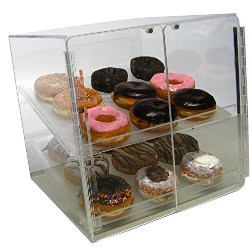 Self Serve Pastry or Donut Display Case 2 Trays for Deli Bakery Convenience Stores Display Bagel cakes and Keeps ()
