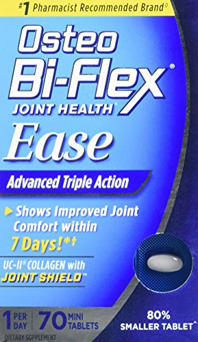 (Osteo Bi-Flex Joint Health Ease 70 Mini Tabs 1 a day Advanced Triple Action UC-II Collagen Formula)