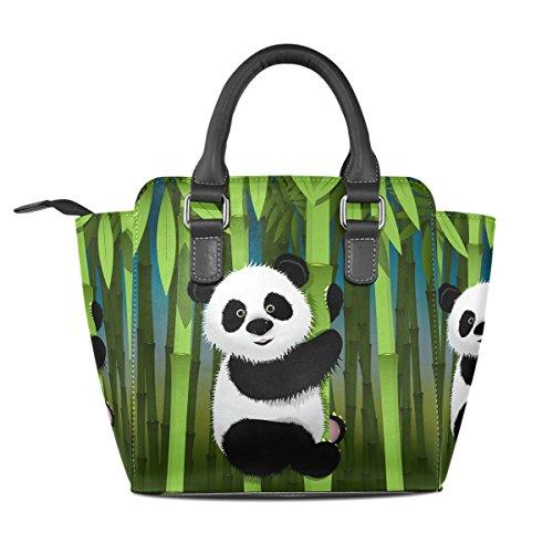 Curiose Pelle Spalla Tote Borsa In Multicolore Coosun handle A Medio Panda Borse Pu Donne Borsello Top SPxxqYw85