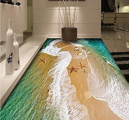 Mkkwp Personalizado Agua De Mar 3D Piso Mural Sala De Estar Acuario Hotel Dormitorio Decoración Piso