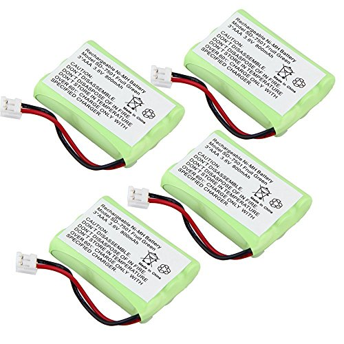 3.6V Ni-MH 800mAh Rechargeable Cordless Home Phone Batter...