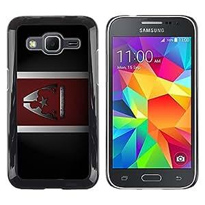 Caucho caso de Shell duro de la cubierta de accesorios de protección BY RAYDREAMMM - Samsung Galaxy Core Prime SM-G360 - Commander Sheppard