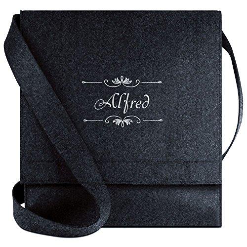 Halfar® Tasche mit Namen Alfred bestickt - personalisierte Filz-Umhängetasche f02tX